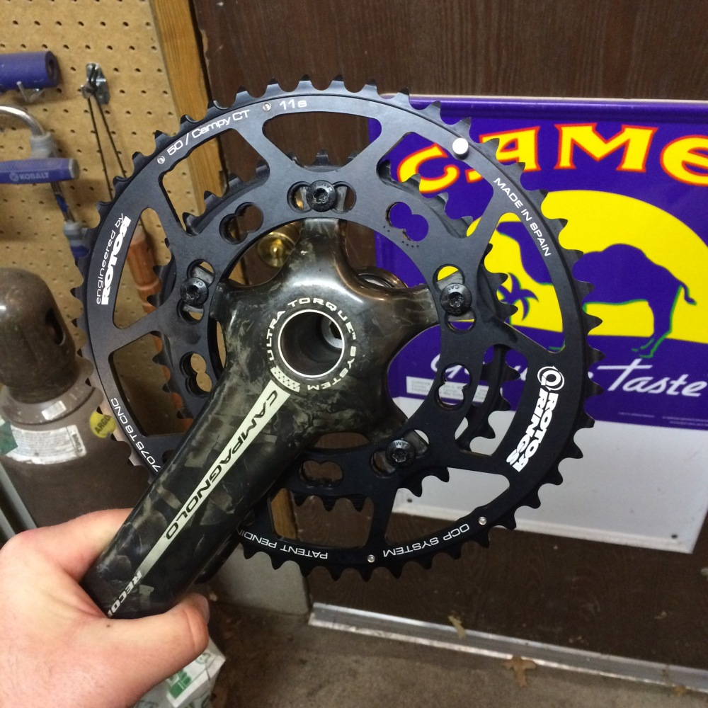 Campagnolo Record Crank cleanup (2/3)